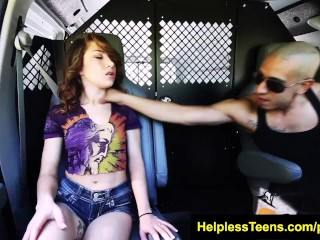 HelplessTeens.com Faye ends in van for bdsm and rough bdsm outdoor sex