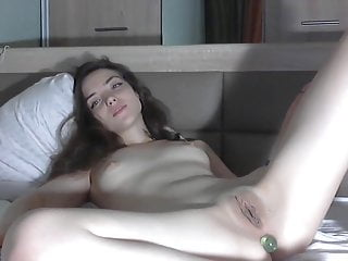 Beautiful Russian Young Girl Opens Her Legs For Us
